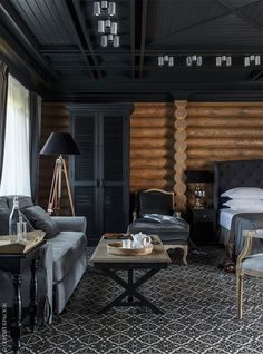 If you are a hunting lover, like fishing or riding a horse, then you will love new hotel Utkino Country House which is located on the river Manych near ✌Pufikhomes - source of home inspiration Log Cabin Living, Log Cabin Homes, Chalet Interior, Interior Design, Luxury Modern Homes, Log Home Designs, Bungalow, Scandinavian Style Home, Modern Log Cabins