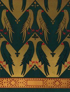 A W N Pugin. Pattern design work, 1844.