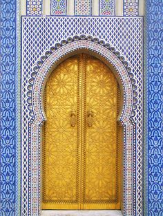 14th Century Door of King's Palace | Fez Medina, Morocco