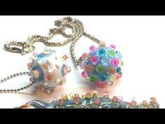 Video:  Faux lampwork beads.  Different and fun.  #Polymer #Clay #Tutorials