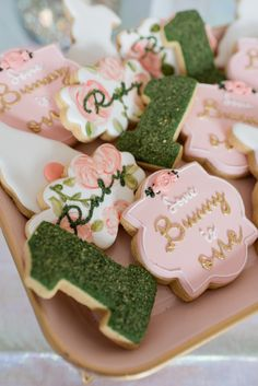 First Birthday Cookies, 1st Birthday Gifts, Girl Birthday, Fancy Birthday Party, Birthday Party Themes, Birthday Ideas, Fancy Cookies, Sugar Cookies, Cookie Gifts