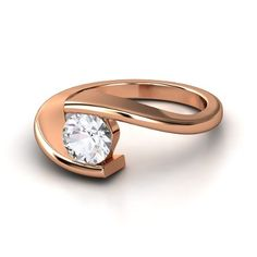 woah! almost exactly my engagement ring..except more curved n w/ white gold