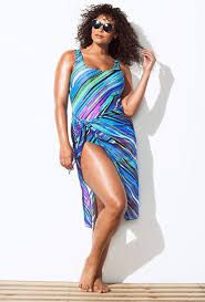 ac063086efedb3 Image result for sarong skirt over one piece swimsuit Plus Size Beach