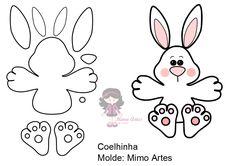 Yarn Crafts For Kids, Bear Crafts, Bunny Crafts, Easter Crafts, Diy École, Finger Puppet Patterns, Finger Puppets, Easter Templates, Easter Banner