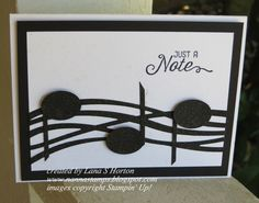 music note card made with Stampin Up Swirly Scribbles / Swirly Bird bundle. 2016-17 annual catalogue Stampin' with Nanna: I See Music