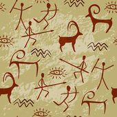 """Buy the royalty-free Stock vector """"Cave Painting Seamless Pattern"""" online ✓ All rights included ✓ High resolution vector file for print, web & Social Me. Native Art, Native American Art, Pintura Vector, Art Pariétal, Paleolithic Art, Stone Age Art, Art Rupestre, Cave Drawings, Art Ancien"""