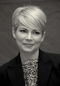 Michelle Williams pixie transition style by liz