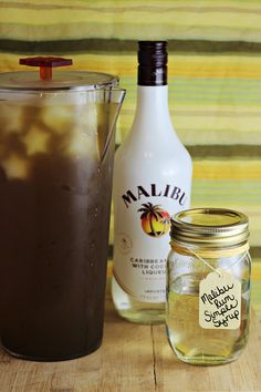 Malibu Rum Simple Syrup -- great for sweetening iced tea!