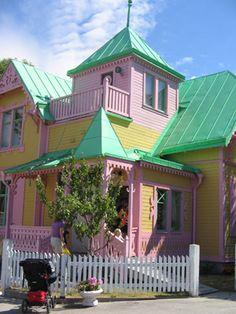 Villa Villekulla, Pippi Longstockings house in Visby, Gotland, Sweden