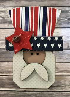 """Uncle Sam 4th of July - Interchangeable """"O"""" Wood Decor by ScrapHappyPagesStore on Etsy"""