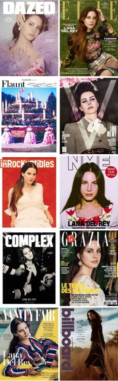 Lana Del Rey + Magazine Covers (2017)