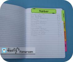 Organizing Journals **Update** - Hootys Homeroom
