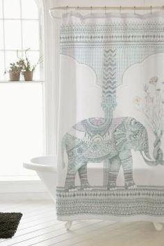 Illustrative Elephant Shower Curtain