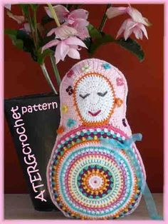 Crochet pattern Matryoshka cushion by ATERGcrochet by ATERGcrochet, €3.85