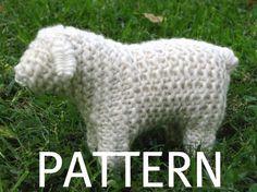 Juguetes Waldorf ovejas tejer patrón PDF descarga Digital
