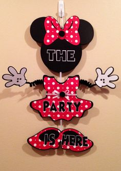 A personal favorite from my Etsy shop https://www.etsy.com/listing/174310060/minnie-mouse-party-door-sign-birthday