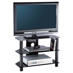 """Essentials TV Stand in Black For 32"""" TVs by Alphason"""
