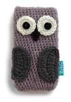 It's an owl case for your phone/ipod.  I could totally crochet this.