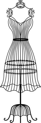 Female wire dress form mannequin vinyl wall decal by cutnpasteshop, $40.00