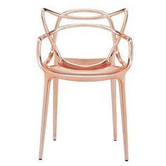Sedia Kartell rame - Sedia di design in metallo rame