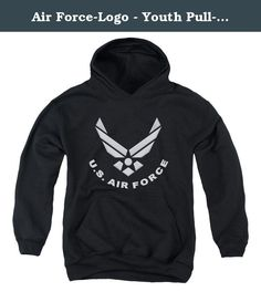 Air Force-Logo - Youth Pull-Over Hoodie, Black - Small. Features. Material - 50 cotton50 polyester blend. Double-needle cuffs. Pouch Pocket. Gender - Youth. Type - Pull-Over Hoodie. Collection - Air Force. Imprint - Air ForceLogo. Color - Black. Size - Small. Item Weight - 1.1 lbs.