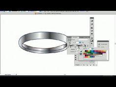 How to Draw a Wedding Ring in Illustrator : Using Adobe Illustrator - YouTube