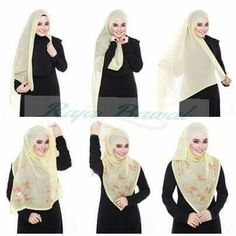 Dress wrap shawl 60 New Ideas Square Hijab Tutorial, Pashmina Hijab Tutorial, Hijab Style Tutorial, Scarf Tutorial, Stylish Hijab, Hijab Chic, Islamic Fashion, Muslim Fashion, Hijab Dress