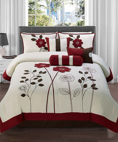 Look what I found on #zulily! Red Adrienne Comforter Set by Victoria Classics #zulilyfinds