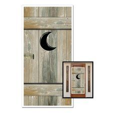 Western Party Outhouse Door Cover. One Western Party Outhouse Door Cover is made of plastic and is 5 feet long X 30 inches wide! Great for any western theme party! Find it at http://www.ezpartyzone.com/pd-western-party-outhouse-door-cover.cfm