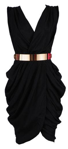 Clothing :: Dresses :: Glamour Dresses :: 'Monroe' Black Chiffon Wrap Dress - Celeb Boutique | Be Obsessed | Brit Designed Bandage Bodycon Dresses & Way More.