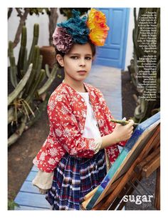 Claudia from Sugar Kids for Vogue Niños by Elena Olay.