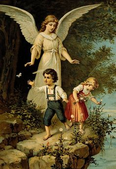 Guardian angels, you have been assigned to protect my children.  Watch over them along those ways where the eye and hand of a mother cannot go.  Protect them on the street from dangers of body which threaten them as well as from the temptations to which their souls are exposed.  Guard them against those who would lead them from the right way and help them make friends with those who are close to our Lord.  Help them when they fail.... continue to link