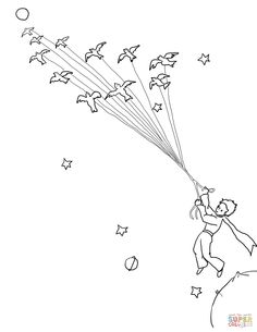 Greenland Flag Coloring Page Elegant Little Prince Coloring Pages the Little Mermaid Coloring Little Prince Quotes, Little Prince Tattoo, Little Prince Fox, Flag Coloring Pages, Free Printable Coloring Pages, Tumblr Book, Planet Tattoo, Prince Drawing, Prince Tattoos