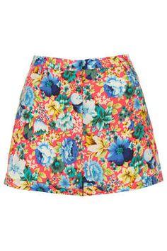 Fluro Floral Print Shorts