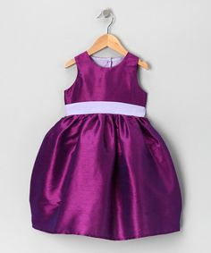 Take a look at this Noa Lily Purple & Lavender Velvet Dress - Infant, Toddler & Girls on zulily today!