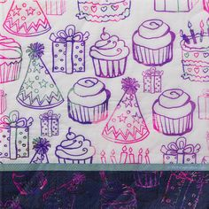 Check out Search Birthday Doodles Luncheon Napkins (16 Count) & other party…