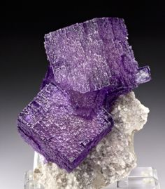 Fluorite with Dolomite from Gordonsville Mine, Carthage, Smith Co., Tennessee, USA
