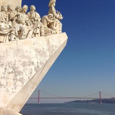 """During our visit to Lisbon we made a day trip to Belém to try the famous Pastéis de Nata that originated here. We also visited the marina to see the famous 52 metre-high Padrão dos Descobrimentos """"Monument to the Discoveries"""". It was from here that in 1497 Vasco da Gama embarked on his voyage to India and in 1493 a storm forced Christopher Columbus to anchor here on his way back to Spain after his discovery of the Americas.  Photo taken with an iPhone 4S during the GuideVenturous trip to…"""