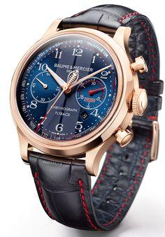 Baume & Mercier - Capeland Cobra 10233. Inspired by the vintage 1948 mono-push-piece chronograph.