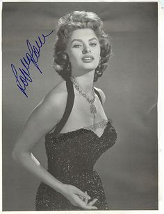 Italian film star (b.1934) with international fame - she began her career at age 14 after entering a beauty pageant in 1949. Loren has been active as an actress since 1950 and performed in tens of fil