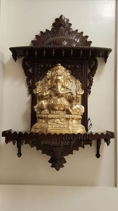 Best Garden Decorations Tips and Tricks You Need to Know - Modern Wooden Temple For Home, Temple Design For Home, Home Temple, Main Entrance Door Design, Home Entrance Decor, Ethnic Home Decor, Indian Home Decor, Indian Inspired Decor, Silver Pooja Items