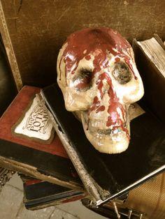 Halloween Decoration Skull with Blood by Joyastle on Etsy
