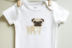 Hey, I found this really awesome Etsy listing at https://www.etsy.com/listing/110356803/baby-clothes-pug-long-or-short-sleeve