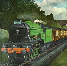 """LNER 4472 Flying Scotsman. The Ian Allan Book of Trains."" Steam Art, Flying Scotsman, Railroad History, Train Art, British Rail, Electric Train, Steam Engine, Steam Locomotive, Jets"