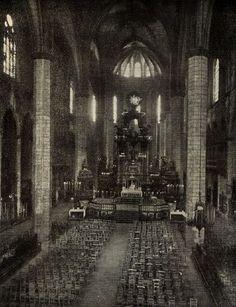 Basílica Santa María del Mar, Barcelona. Foto anterior al incendio de 1939 (Archivo:SMM)