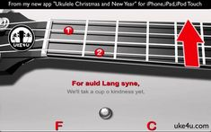 YOUR THIRD strumming song (ignore the D chord if you can,t get it yet) Auld Lang Syne – Ukulele Tutorial with Chords And Lyrics - play along for beginners, good intro to down down up down down strumming pattern Christmas Apps, Christmas Sheet Music, Traditional Folk Songs, Karaoke Tracks, Cool Ukulele, Auld Lang Syne, Music Classroom, Teaching Music, Music Education