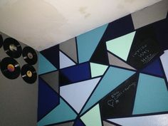 Wall painting with chalkboard paint Chalkboard Paint, Wall, Cards, Painting, Blackboard Paint, Paintings, Draw, Playing Cards, Drawings