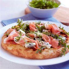 Pizza with Cured Parma Ham #italianfood taste it with Ferrarini Parma Ham