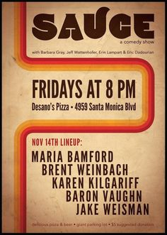 Prepare For SAUCE, Your New Friday Night Comedy Hangout 11.14