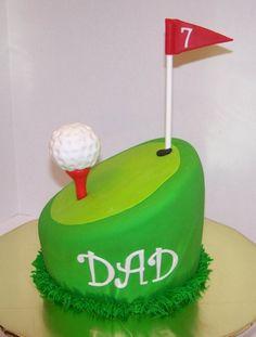 Golf Cake cakepins.com